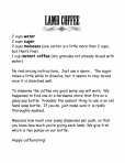 Lamb Coffee Recipe
